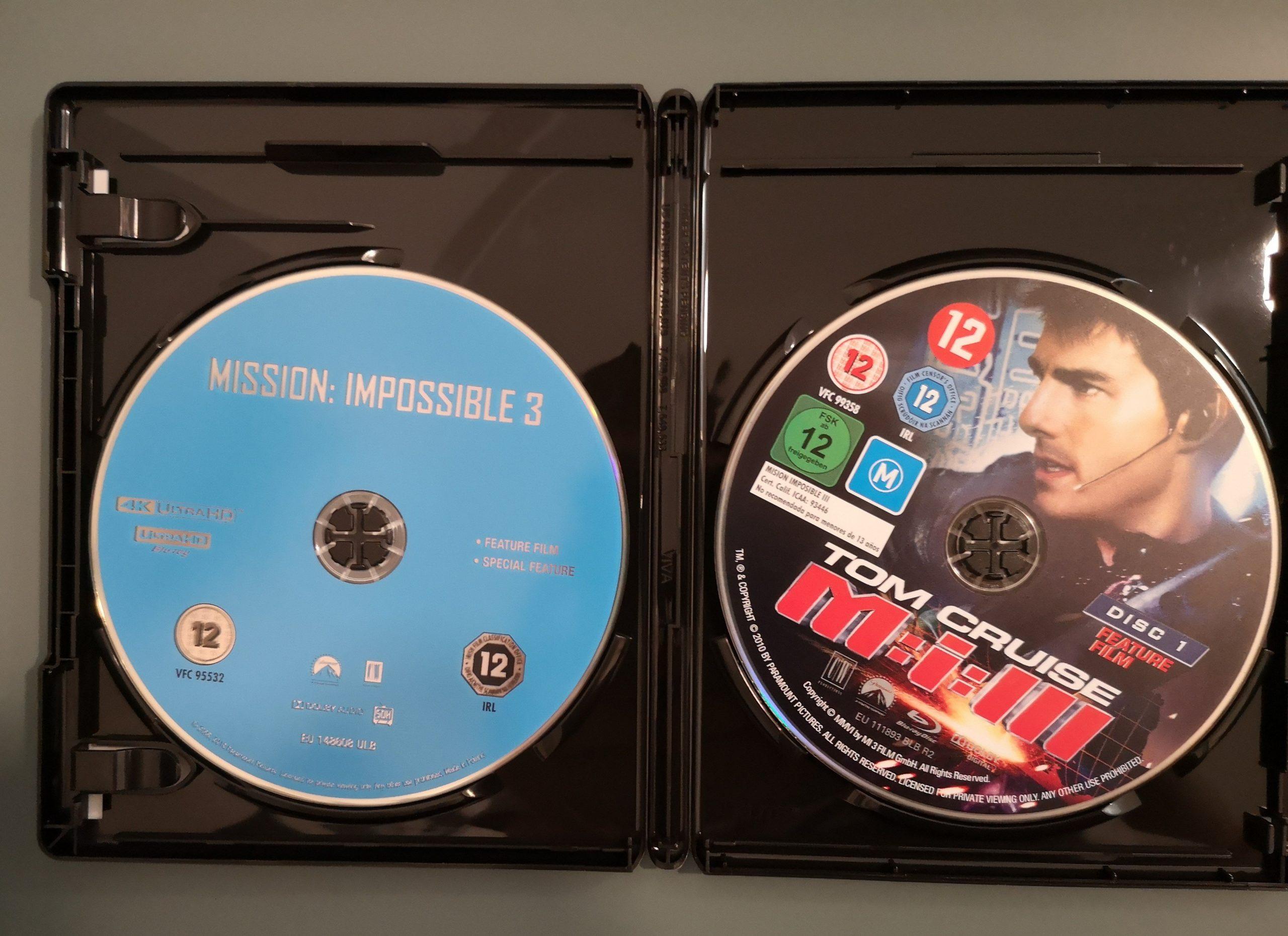 Misión Imposible 3 discos
