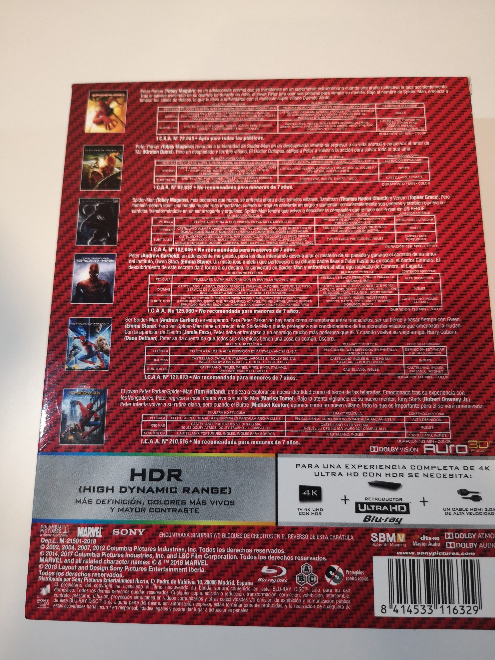 Spider-Man colección 6 películas 04