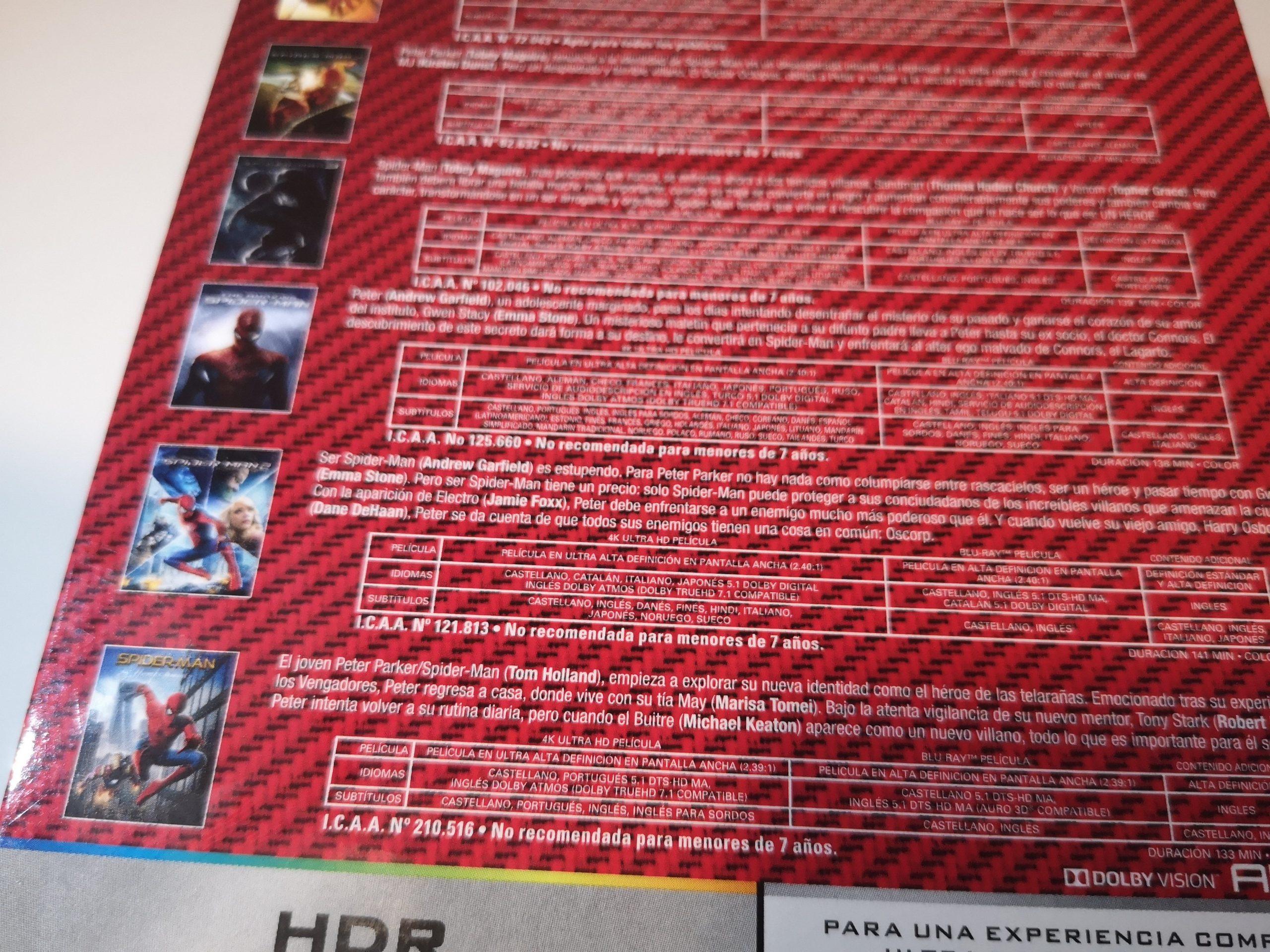 Spider-Man colección 6 películas 07