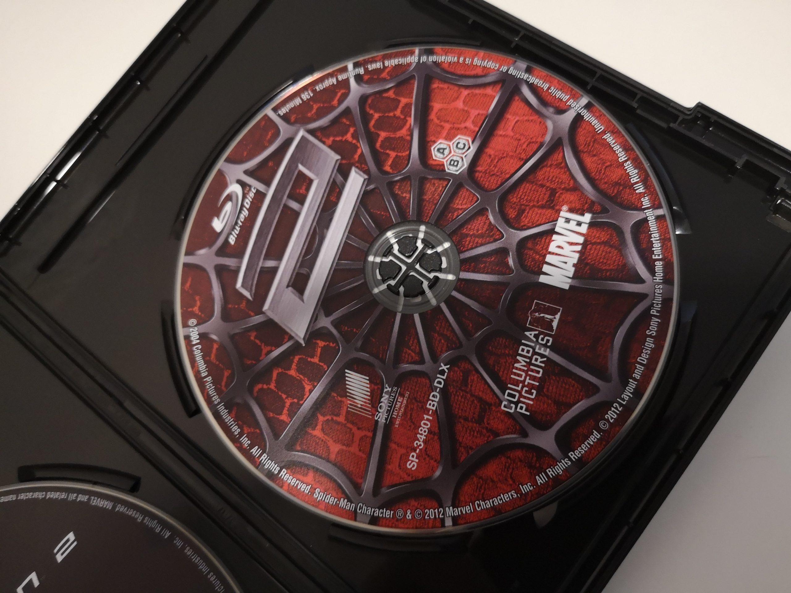 Spider-Man 2 disco bluray