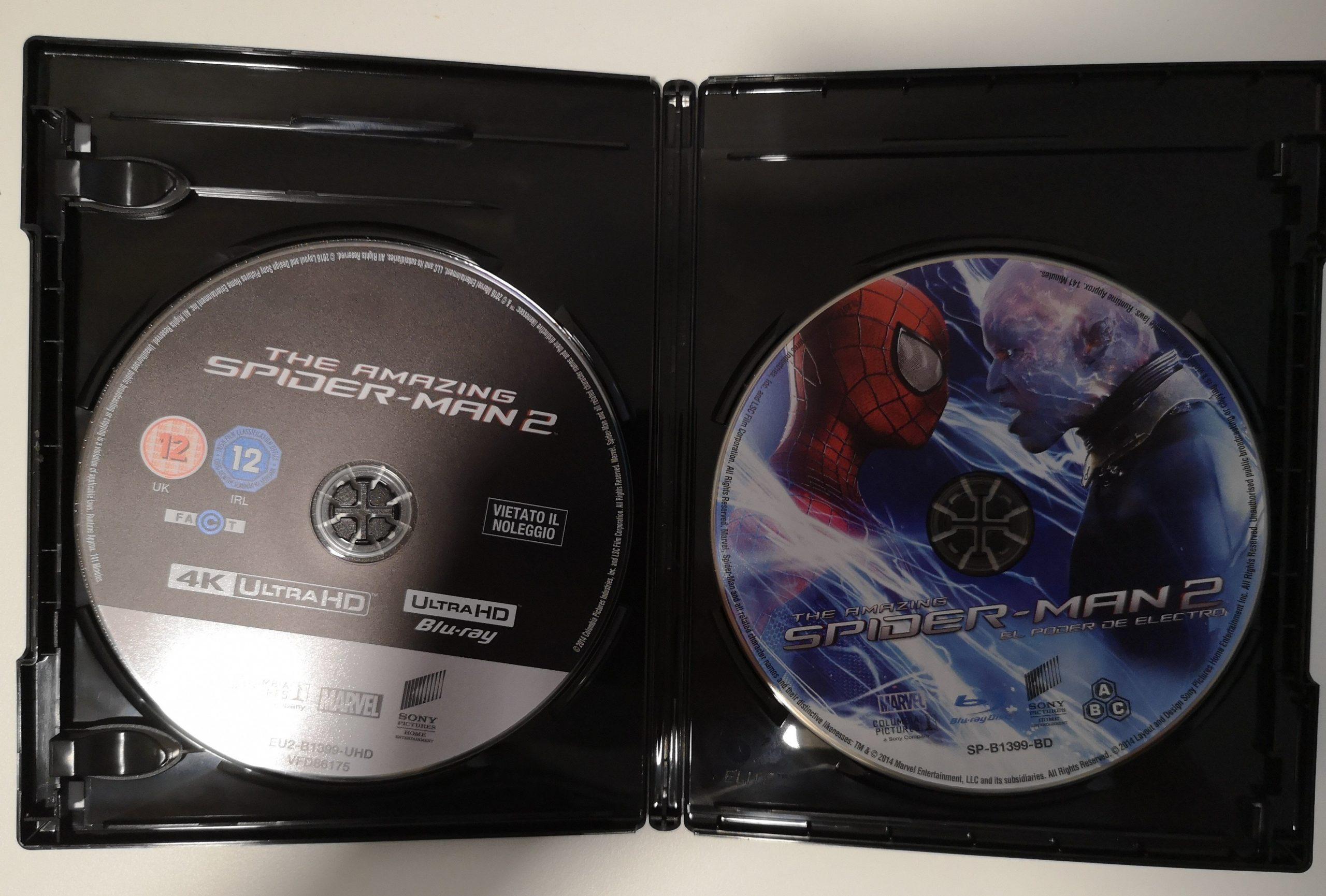 The Amazing Spider-Man 2: El poder de Electro discos