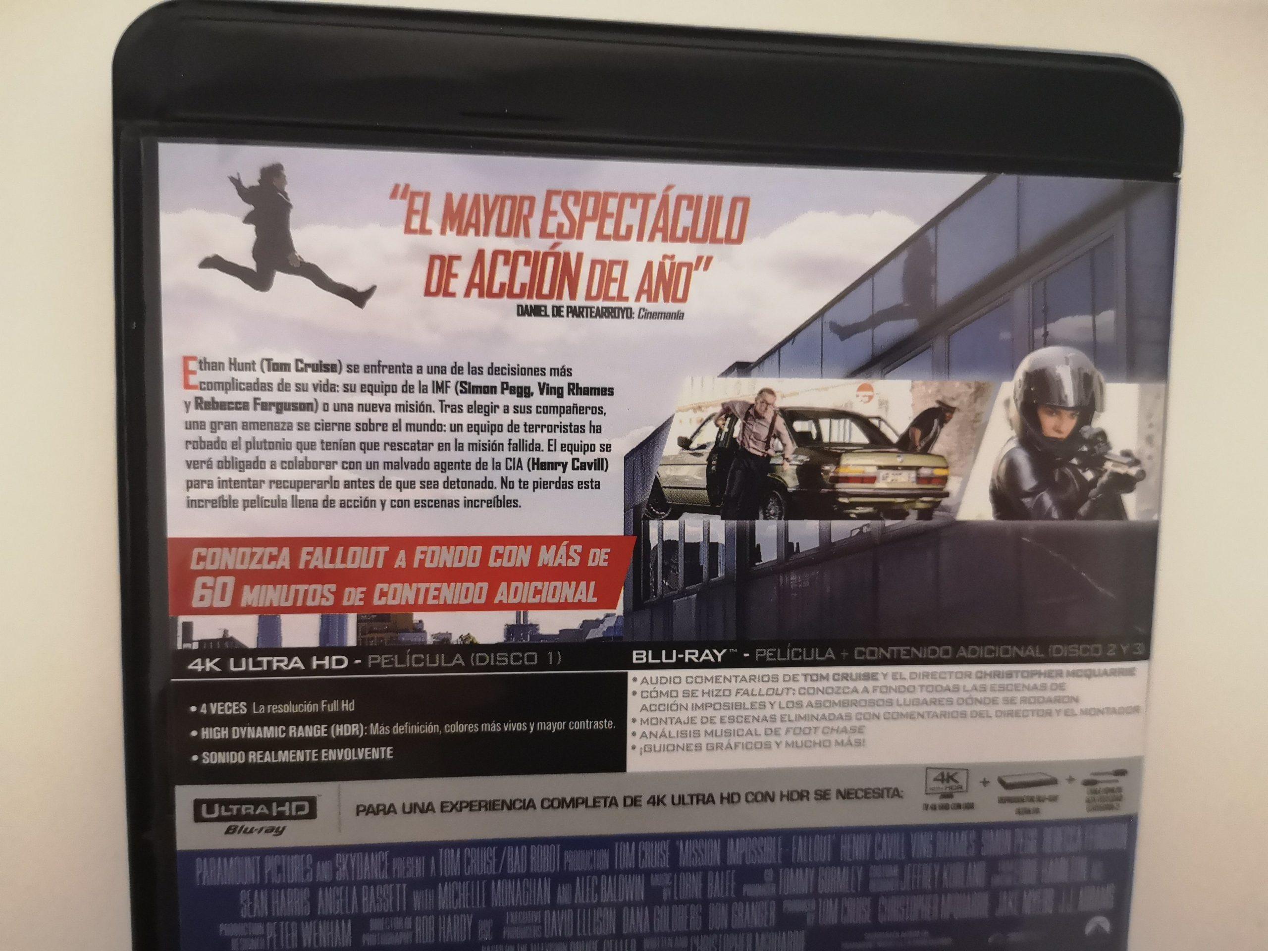 """""""Misión Imposible: Fallout"""" [Blu-ray] [4K UHD] contraportada 02"""
