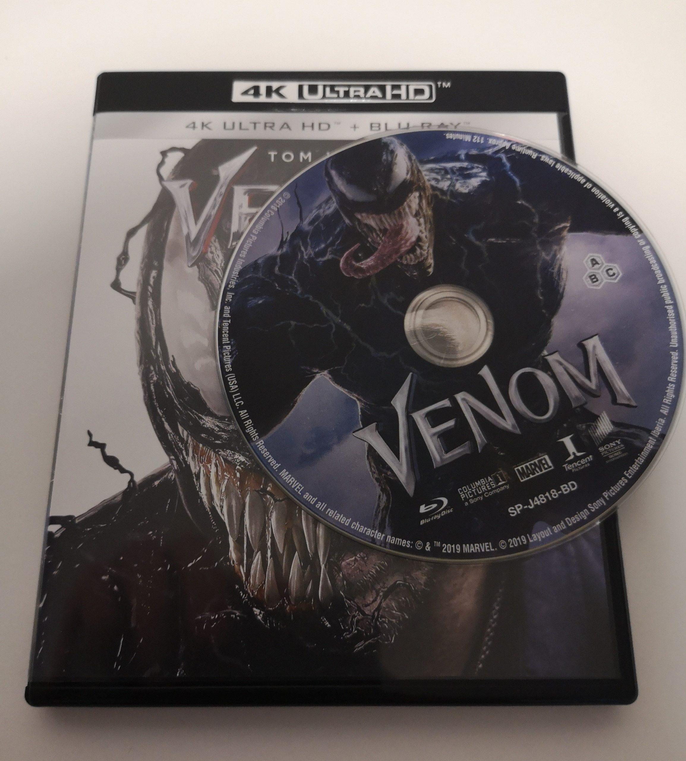 Venom 4K portada y disco