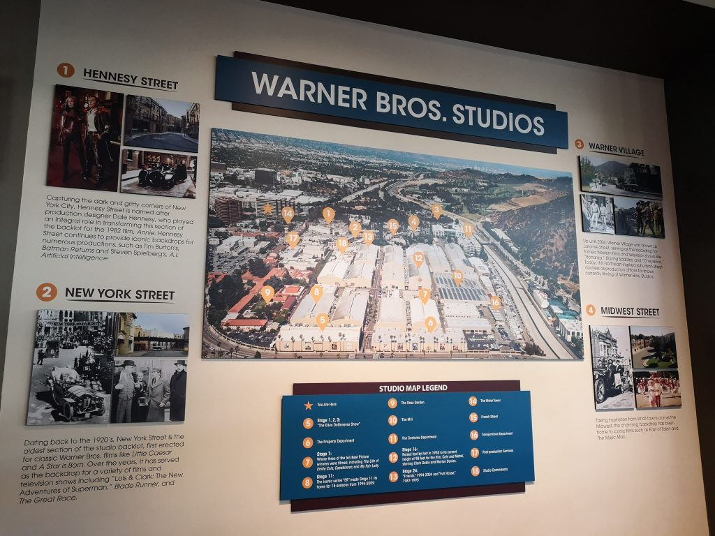 Plano de lo estudios Warner Bros Hollywood