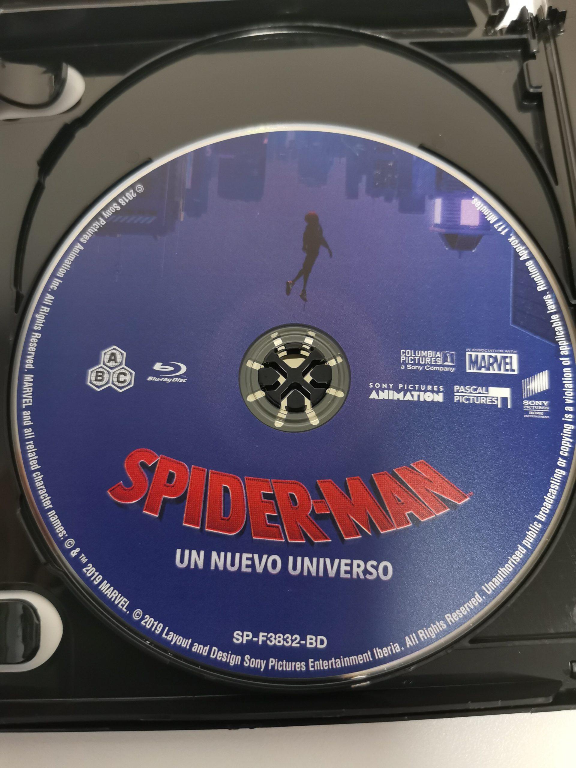 Spider-Man Un nuevo universo Blu-ray