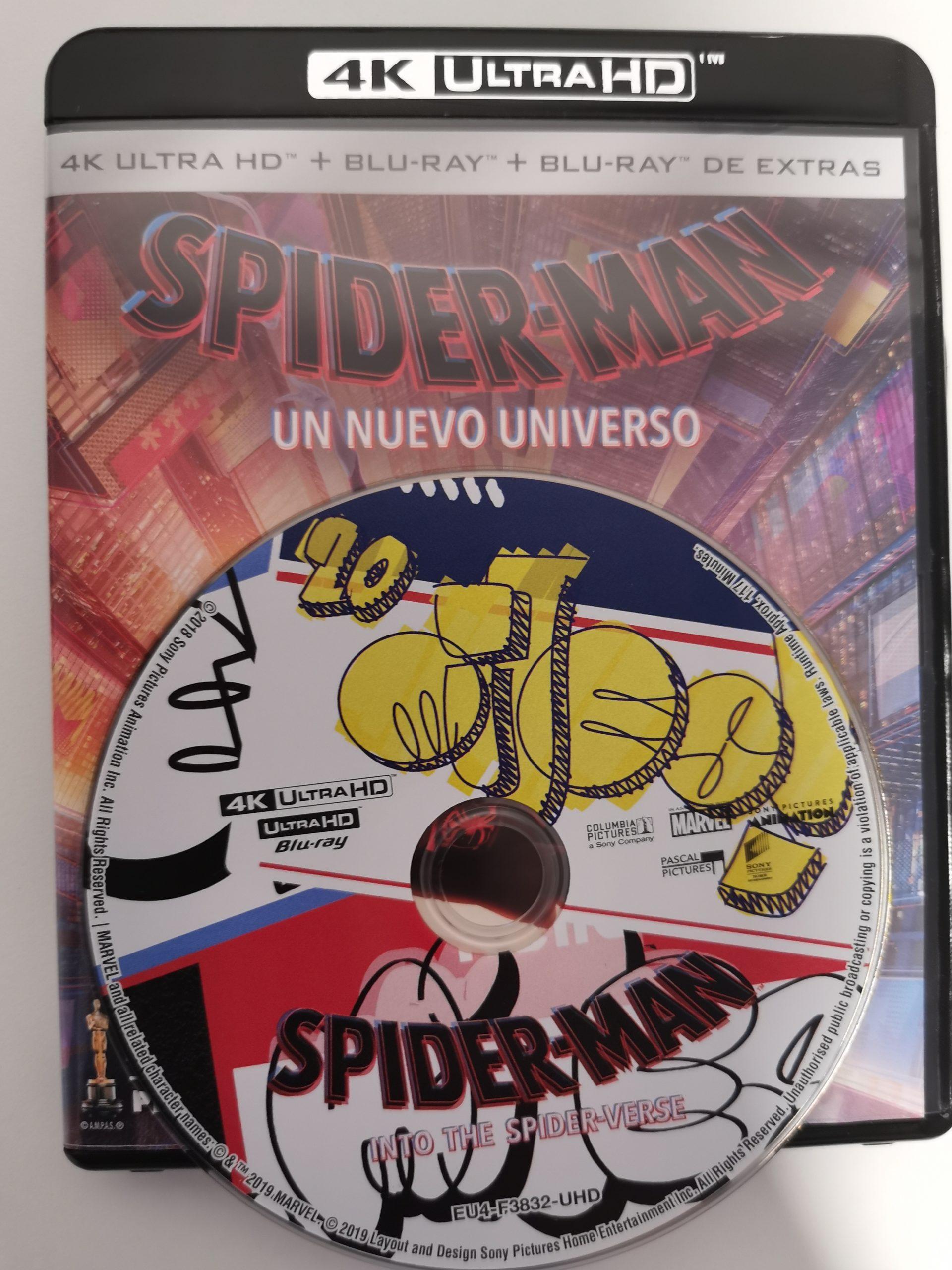 Spider-Man Un nuevo universo disco portada