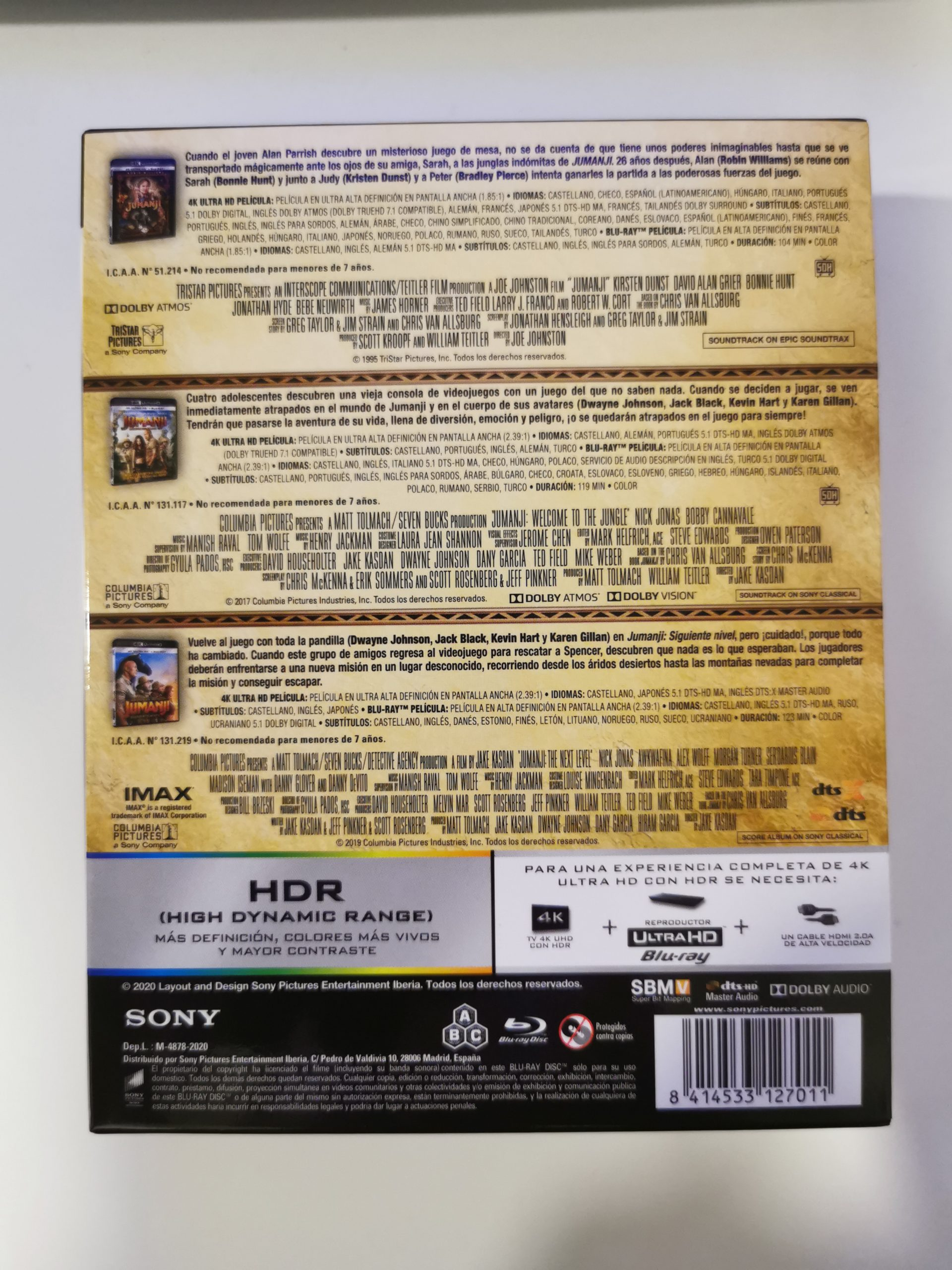 Jumanji colección de 3 películas 04