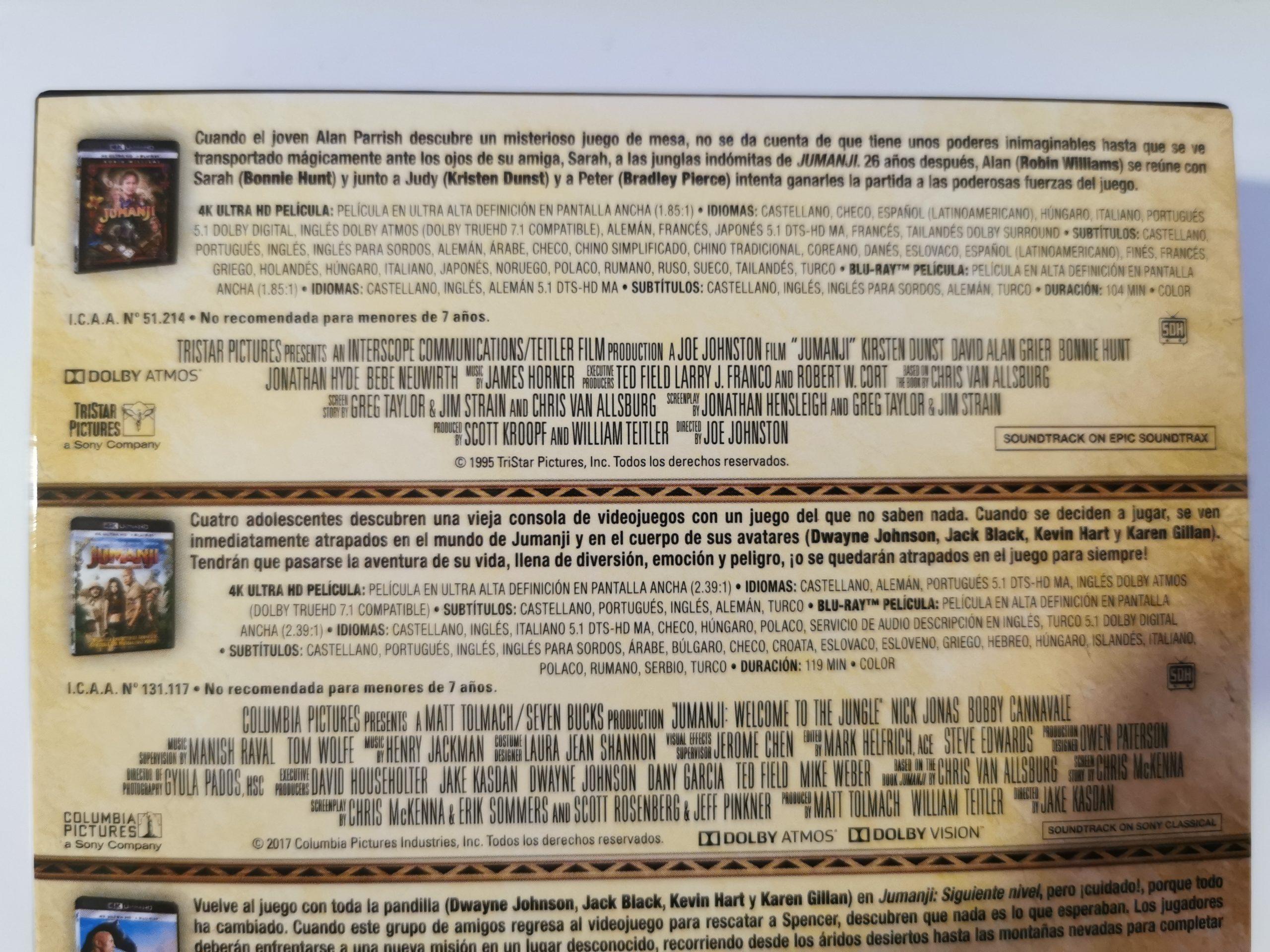 Jumanji colección de 3 películas 05